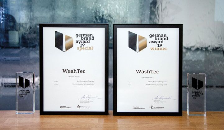 WashTec si aggiudica il German Brand Award in due categorie!